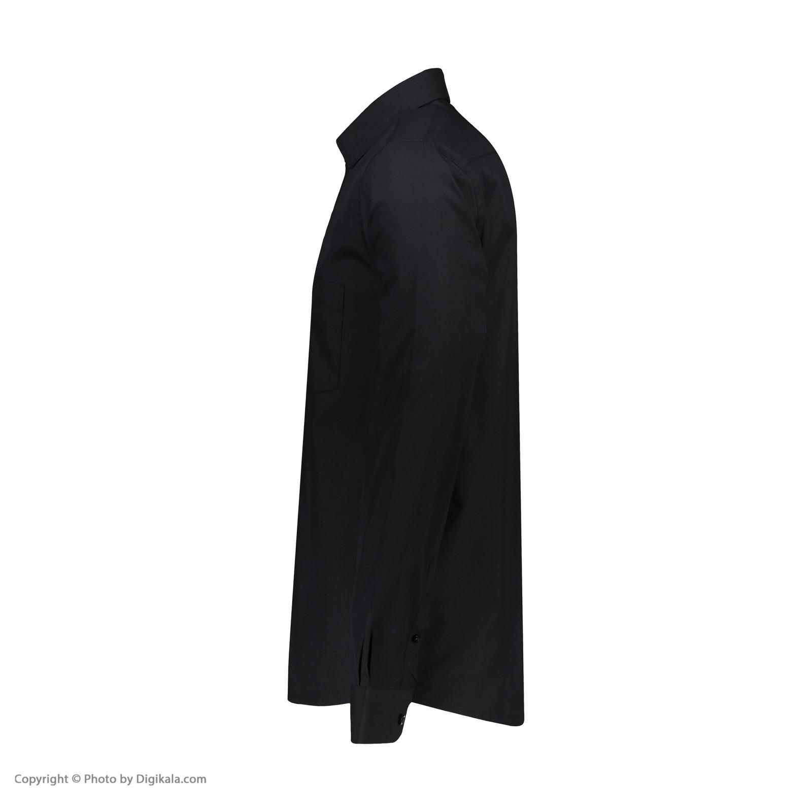 پیراهن مردانه پاتن جامه کد 98MC8528 رنگ مشکی  -  - 4