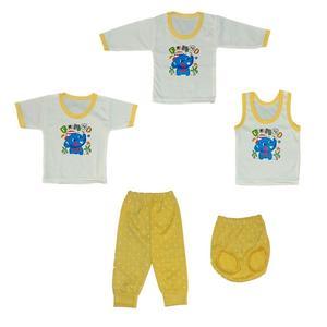 ست 5 تکه لباس نوزادی کد 555ZAF