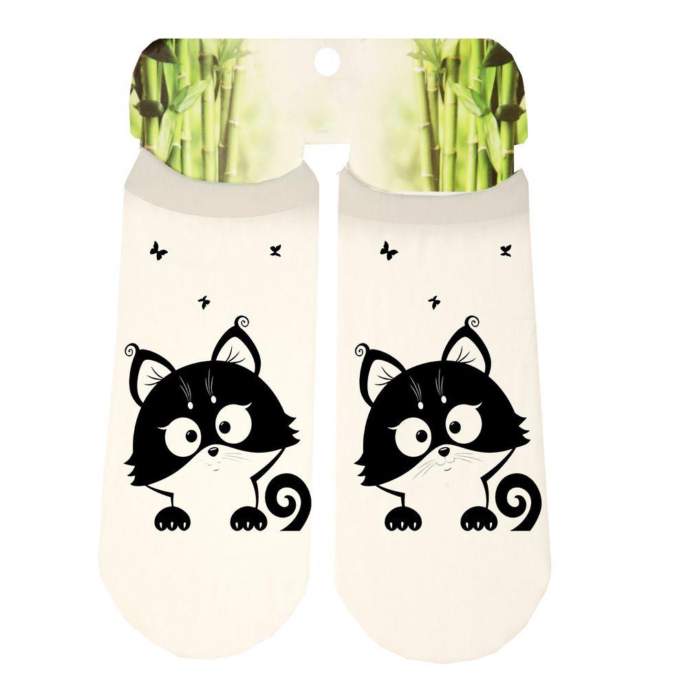جوراب دخترانه طرح گربه کد SCb43
