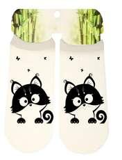 جوراب دخترانه طرح گربه کد SCb43 -  - 1