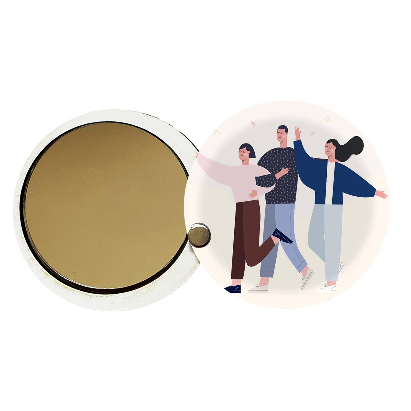 آینه جیبی طرح دخترانه کد ay91