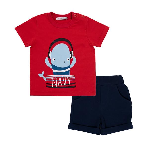 ست تی شرت و شلوارک نوزادی فیورلا مدل 21048