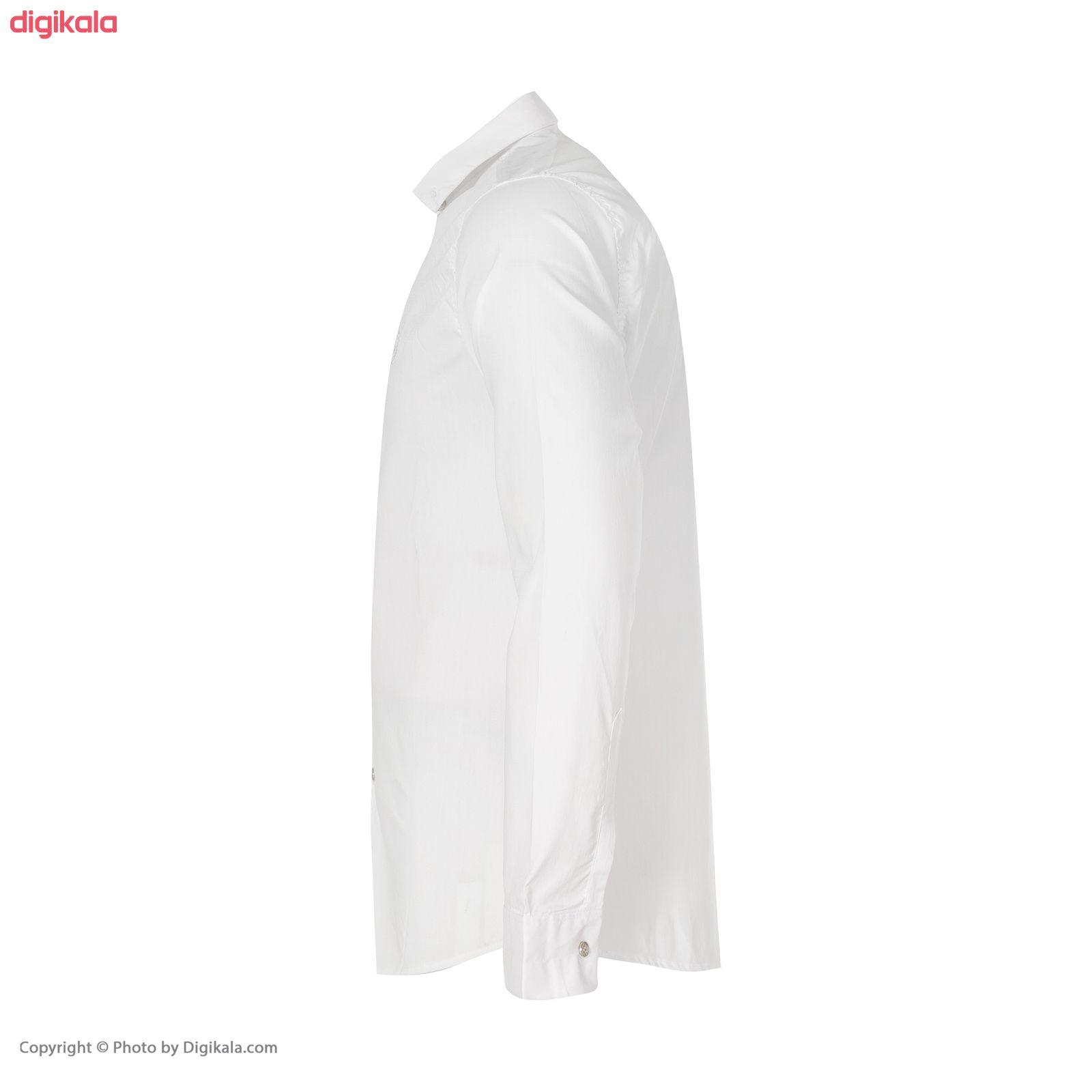 پیراهن مردانه کد PVLF-W-M-9903 رنگ سفید main 1 1