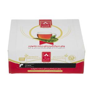 چای کیسه ای ساده خانواده چای دبش بسته 100 عددی