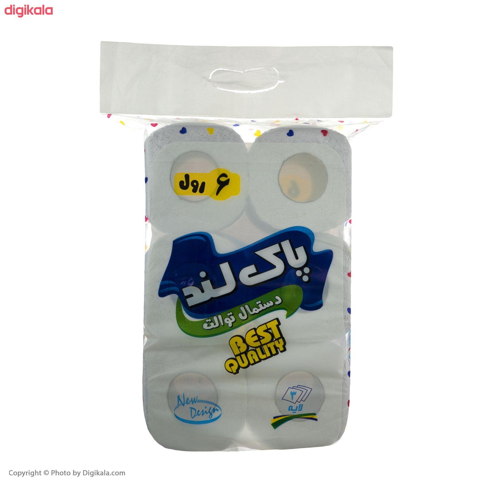 دستمال توالت پاکلند مدل Heart بسته 6 عددی main 1 1
