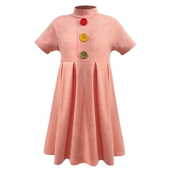 پیراهن دخترانه افراتین کد 0006 رنگ گلبهی
