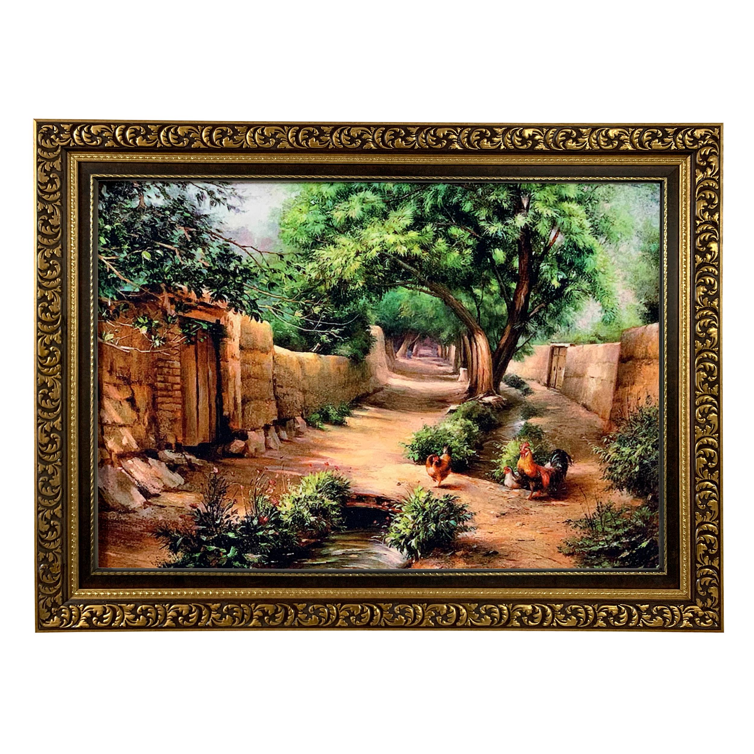 تابلو فرش ماشینی طرح کوچه باغ کد ۷۳۳۳