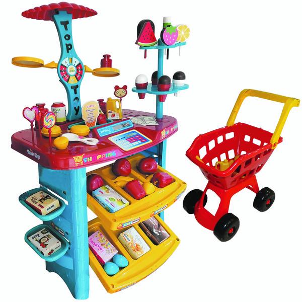 اسباب بازی سوپرمارکت مدل 509 به همراه چرخ خرید
