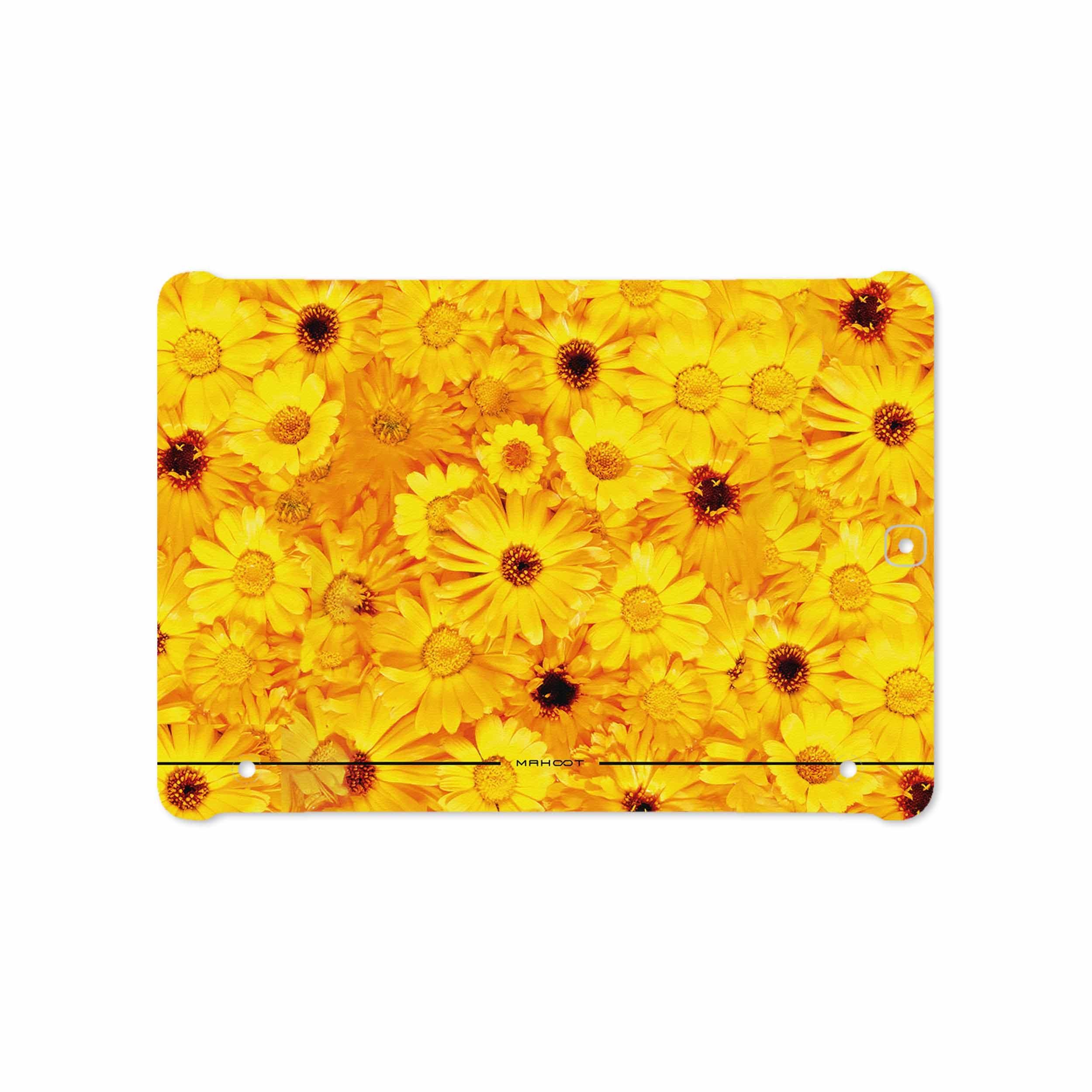 بررسی و خرید [با تخفیف]                                     برچسب پوششی ماهوت مدل Yellow-Flower مناسب برای تبلت سامسونگ Galaxy Tab S2 9.7 2015 T810                             اورجینال