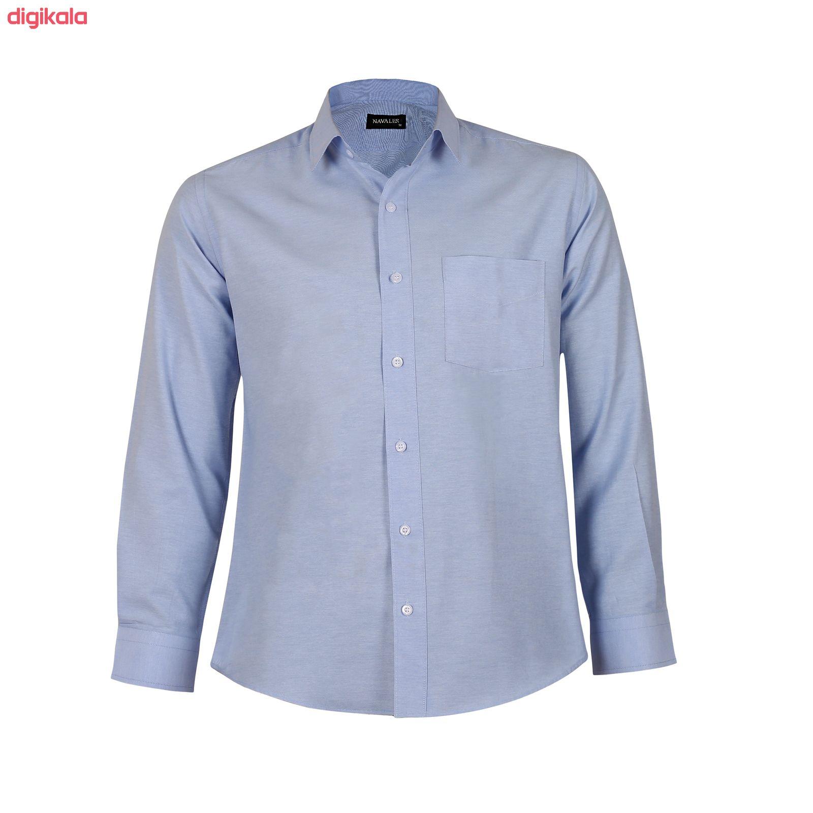 پیراهن آستین بلند مردانه ناوالس مدل NOx8020-BL main 1 3