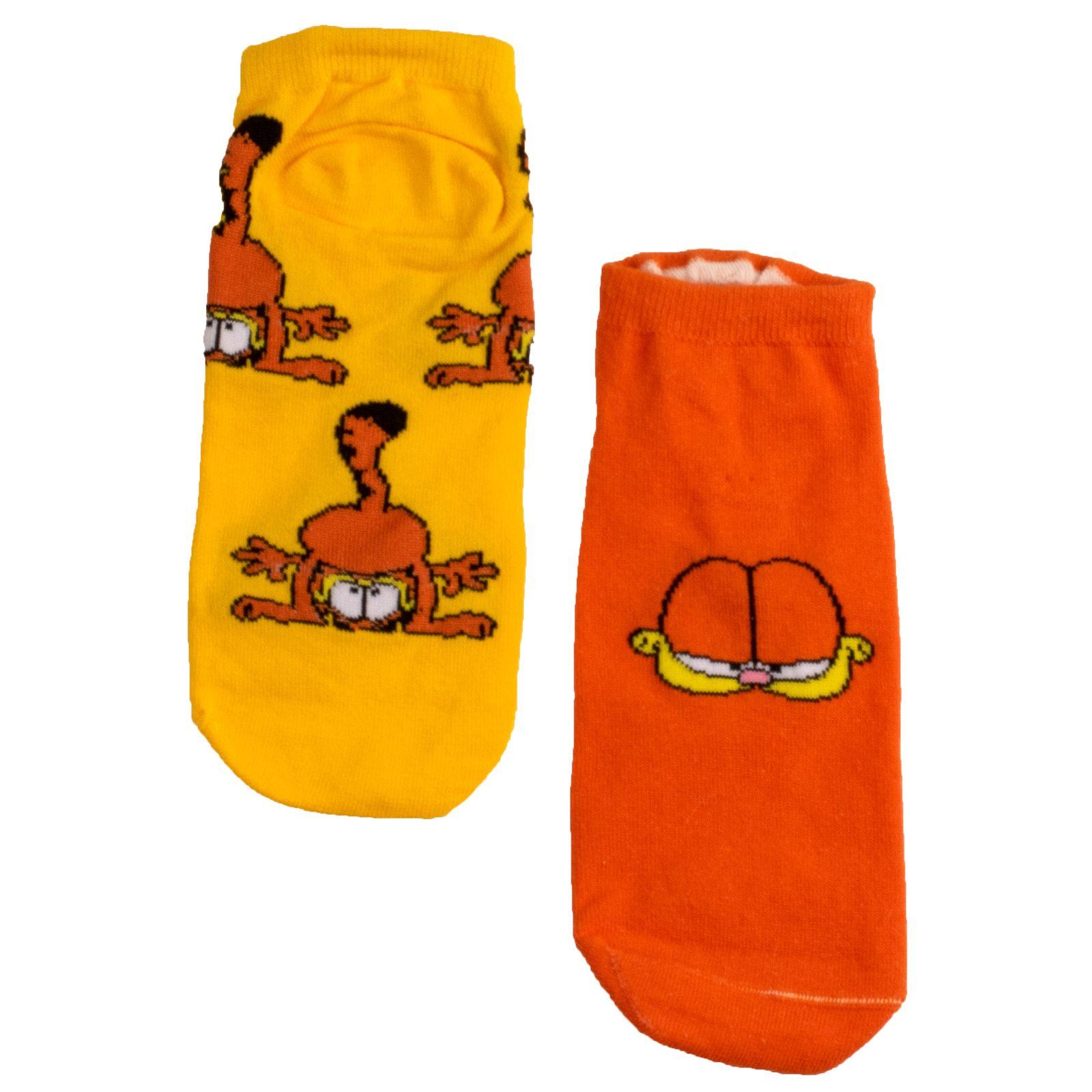 جوراب زنانه بوم طرح گارفیلد کد SKB-2008 -  - 2