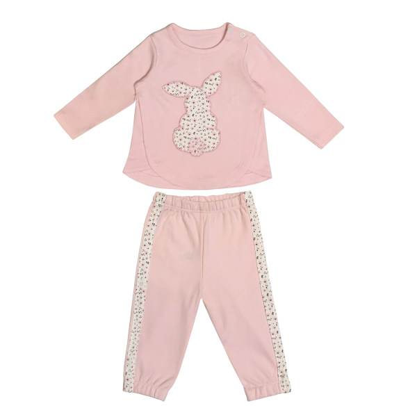 ست تیشرت  آستین بلند و شلوار نوزادی دخترانه کد KHS_85002