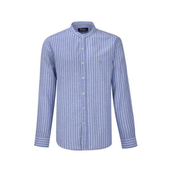 پیراهن آستین بلند مردانه بادی اسپینر مدل 2065 کد 18 رنگ آبی