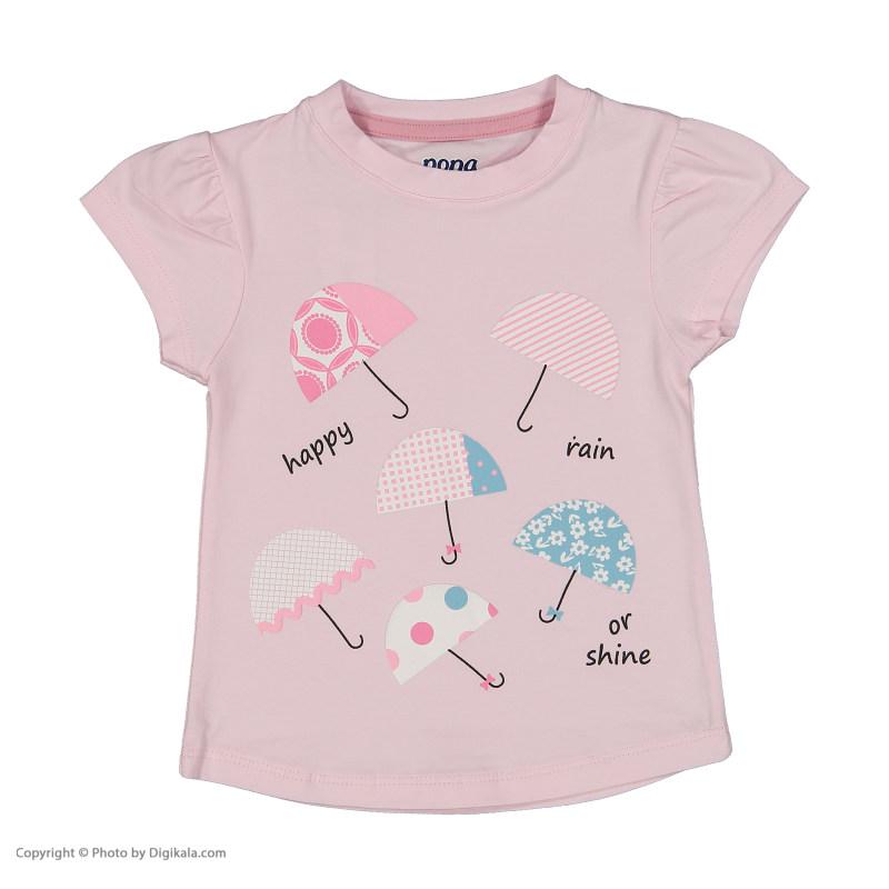 ست تی شرت و شلوار دخترانه نونا مدل 2211103-80