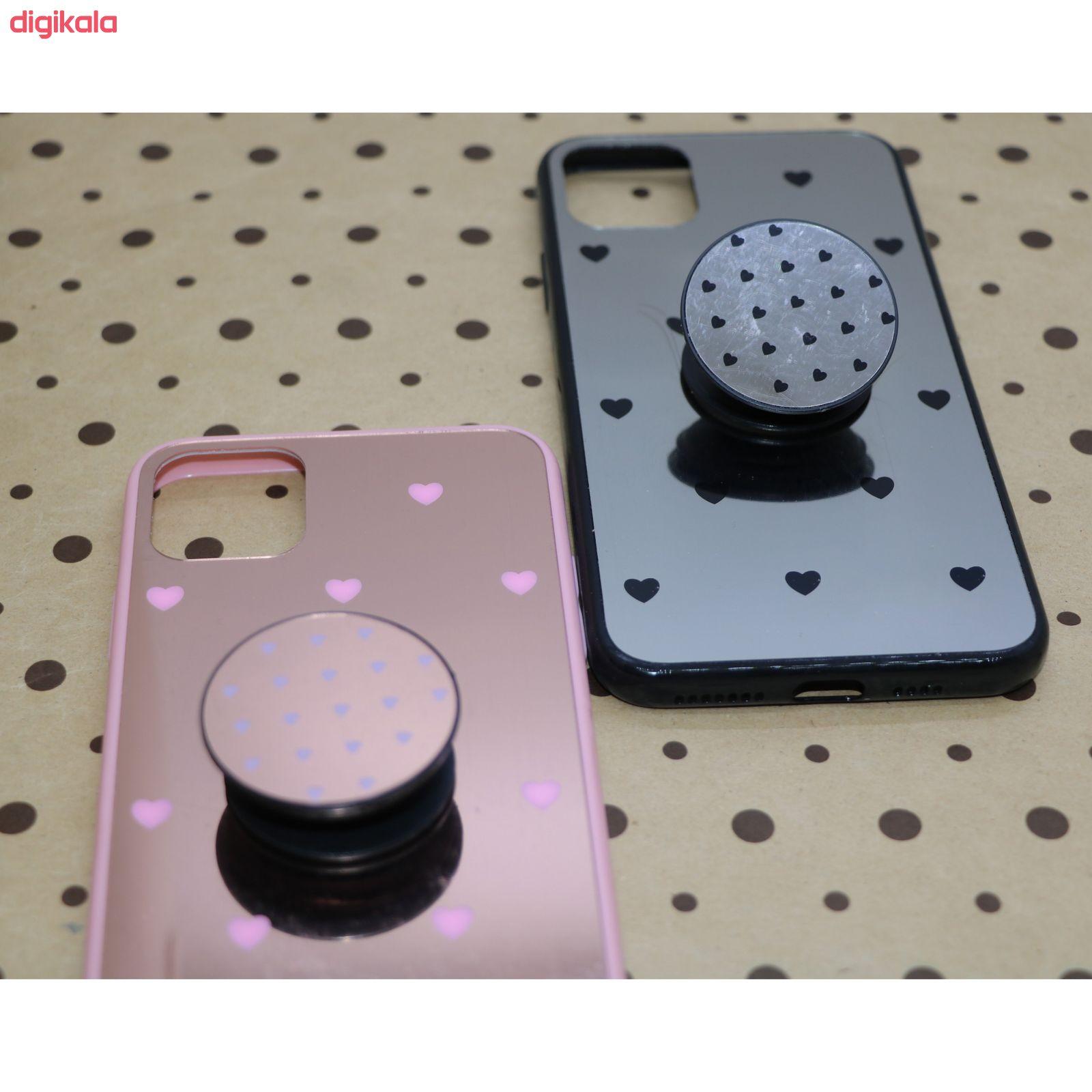کاور طرح Heart مدل BH-01 مناسب برای گوشی موبایل اپل Iphone 11 به همراه نگهدارنده main 1 6