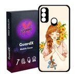 کاور گارد ایکس طرح دختر مدل Glass10317 مناسب برای گوشی موبایل هوآوی P Smart 2020
