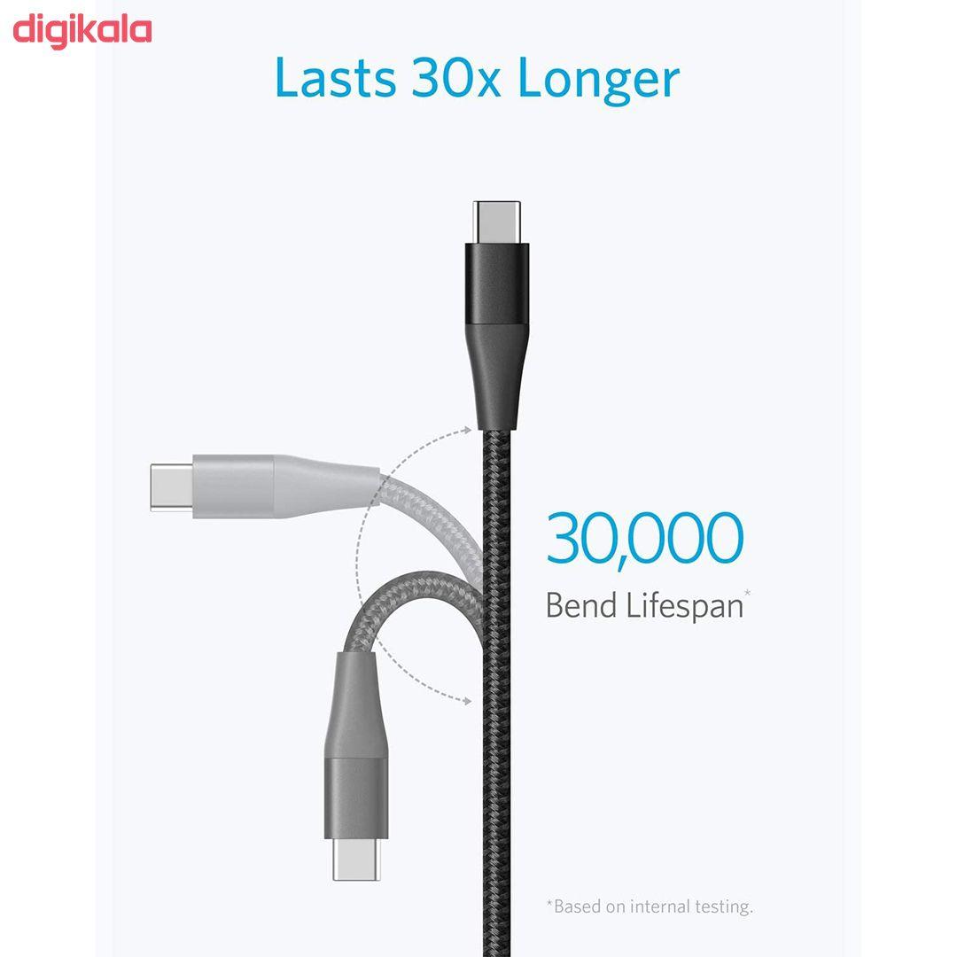 کابل تبدیل USB به USB-C انکر مدل PowerLine Plus II طول 0.9 متر main 1 2