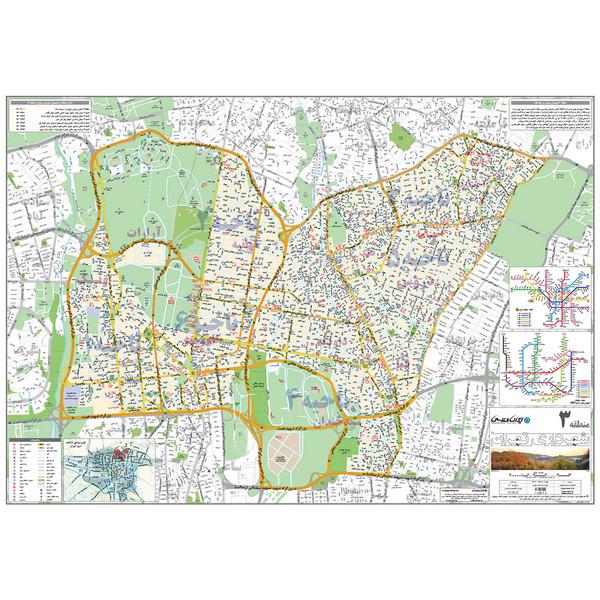 نقشه انتشارات ایرانشناسی مدل منطقه 3 شهرداری تهران کد 403