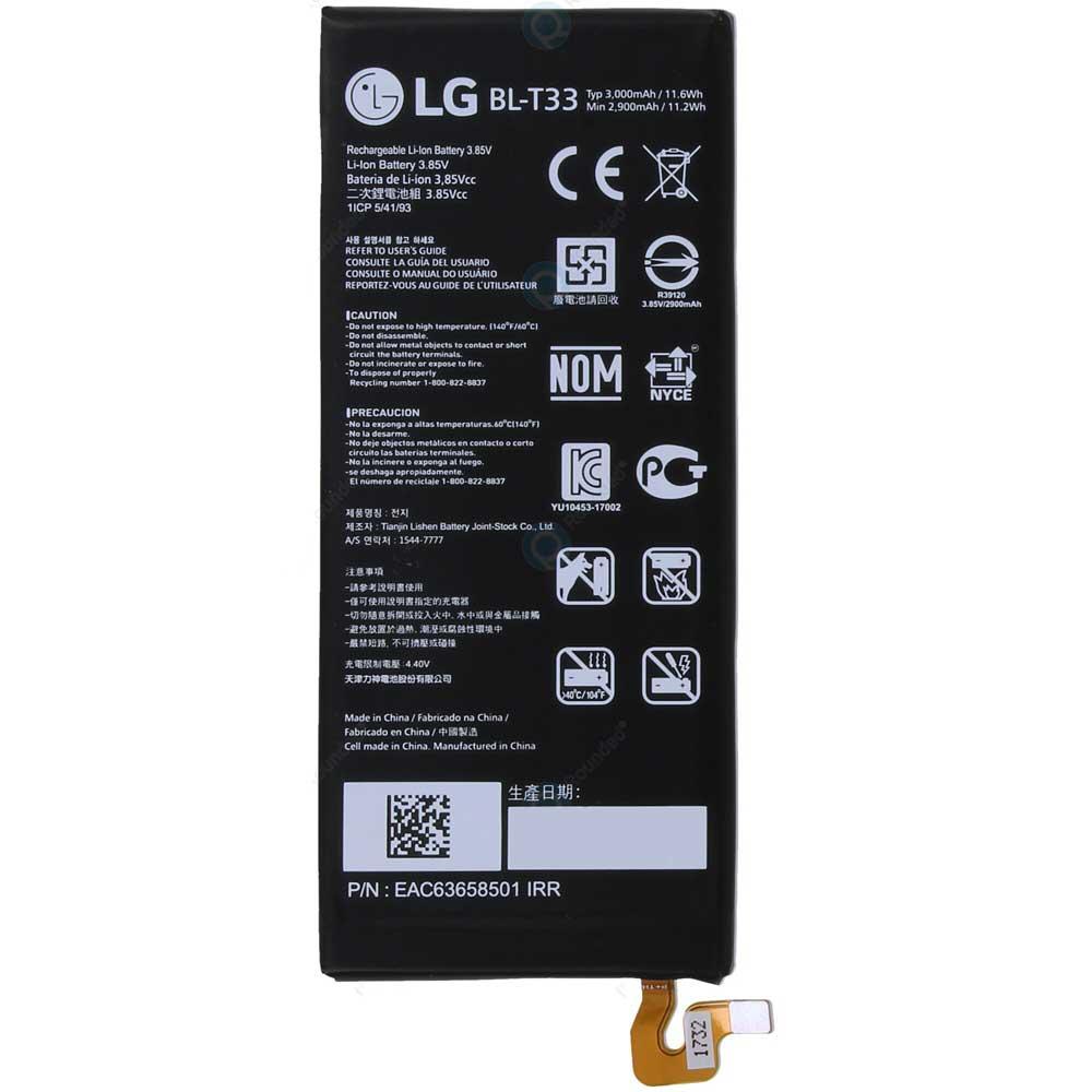 باتری موبایل مدلBL-T33 ظرفیت 3000 میلی آمپر ساعت مناسب برای گوشی موبایل ال جی Q6