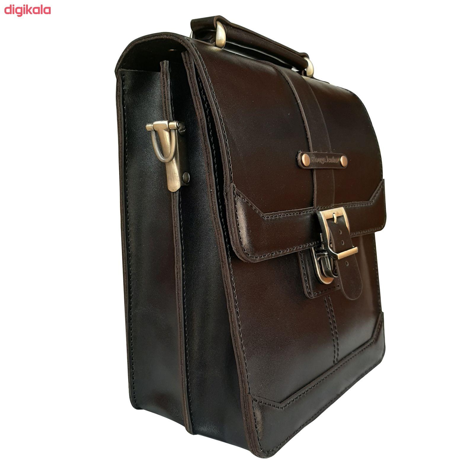 کیف دوشی مردانه چرم روژه مدل ES01B main 1 6