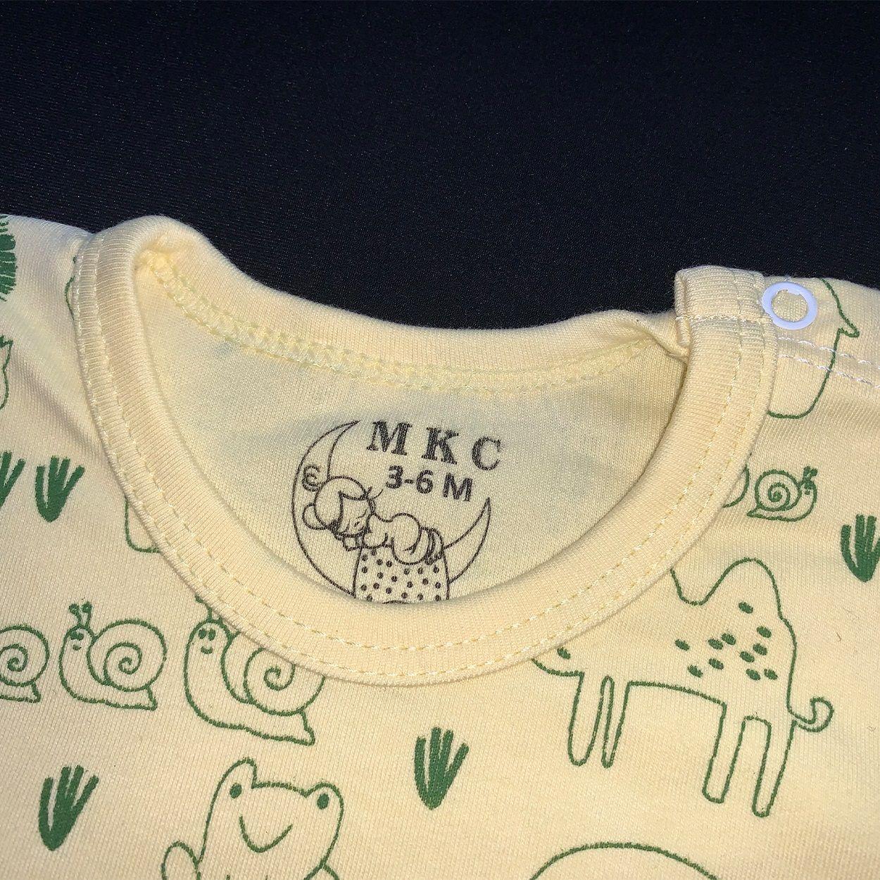 ست تی شرت و شلوار نوزادی طرح شیر کد FF-079 -  - 5