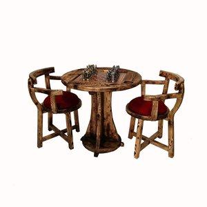 میز و صندلی شطرنج مدل لهستانی کد ۰۰۲