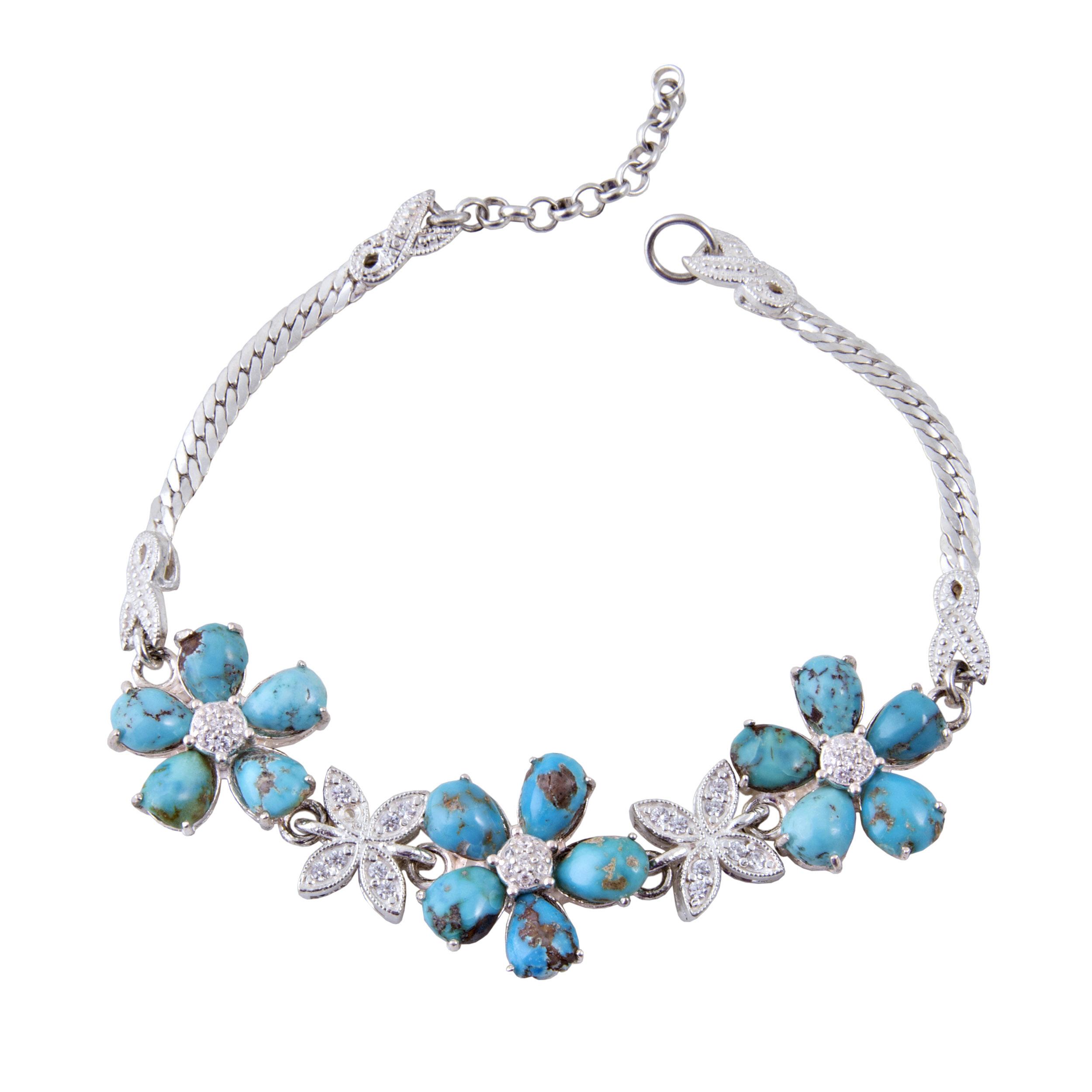 دستبند نقره زنانه بازرگانی میلادی کد DP_055
