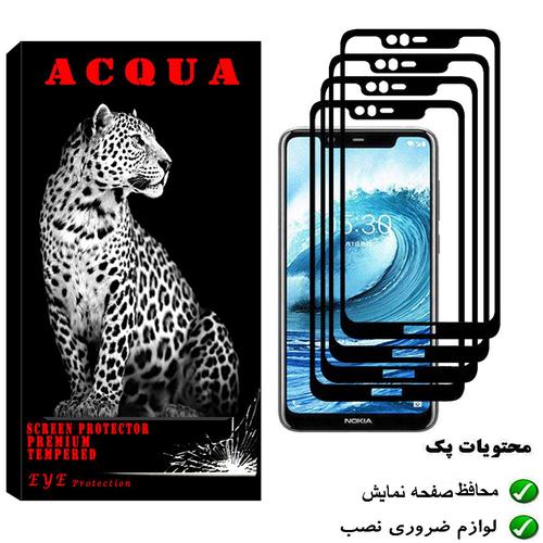 محافظ صفحه نمایش آکوا مدل NO مناسب برای گوشی موبایل نوکیا 5.1 PLUS بسته 4 عددی