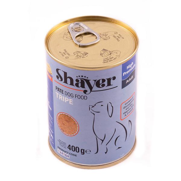 کنسرو غذای سگ شایر مدل Tripe وزن 400 گرم