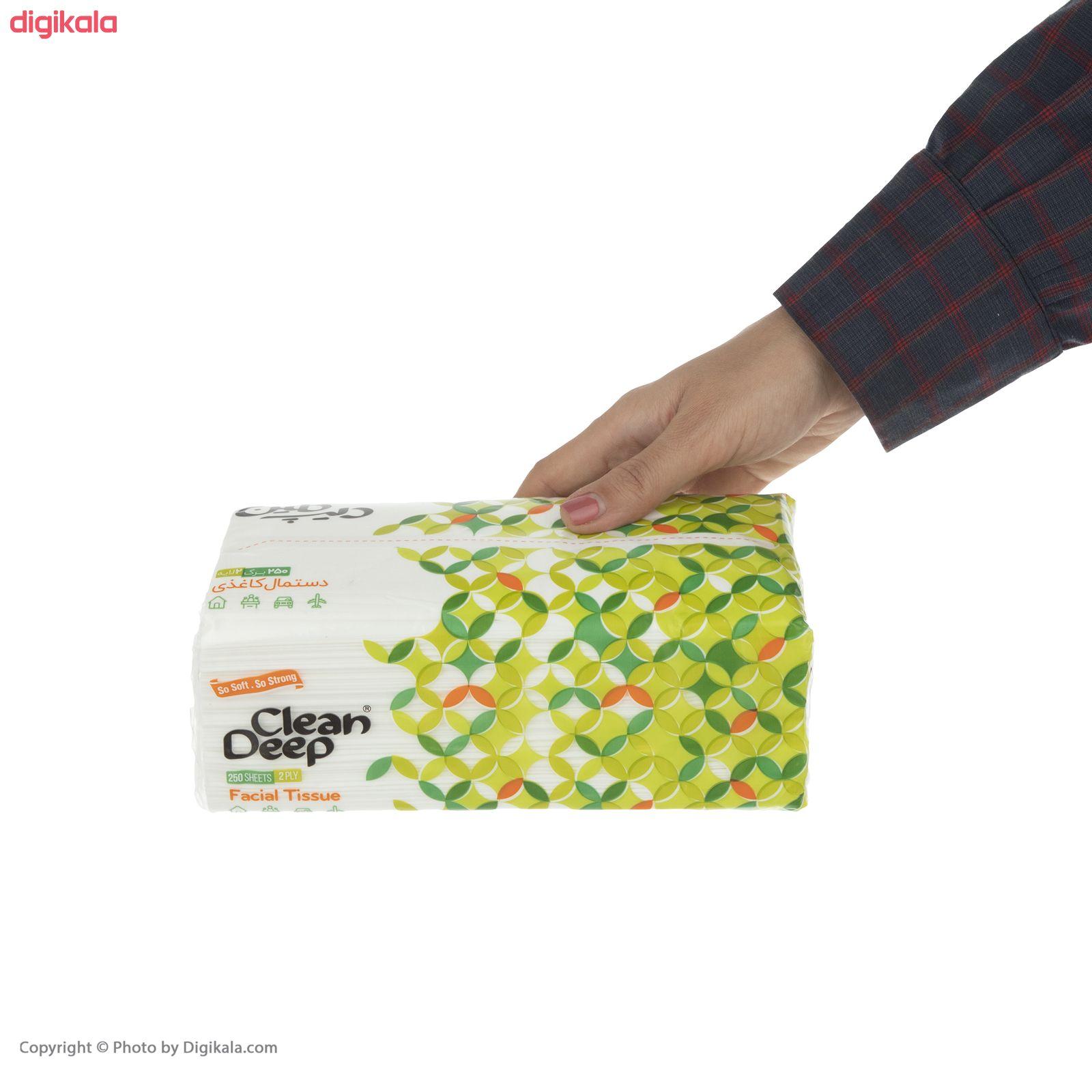 دستمال کاغذی 250 برگ دیپ کلین مدل 03  main 1 3