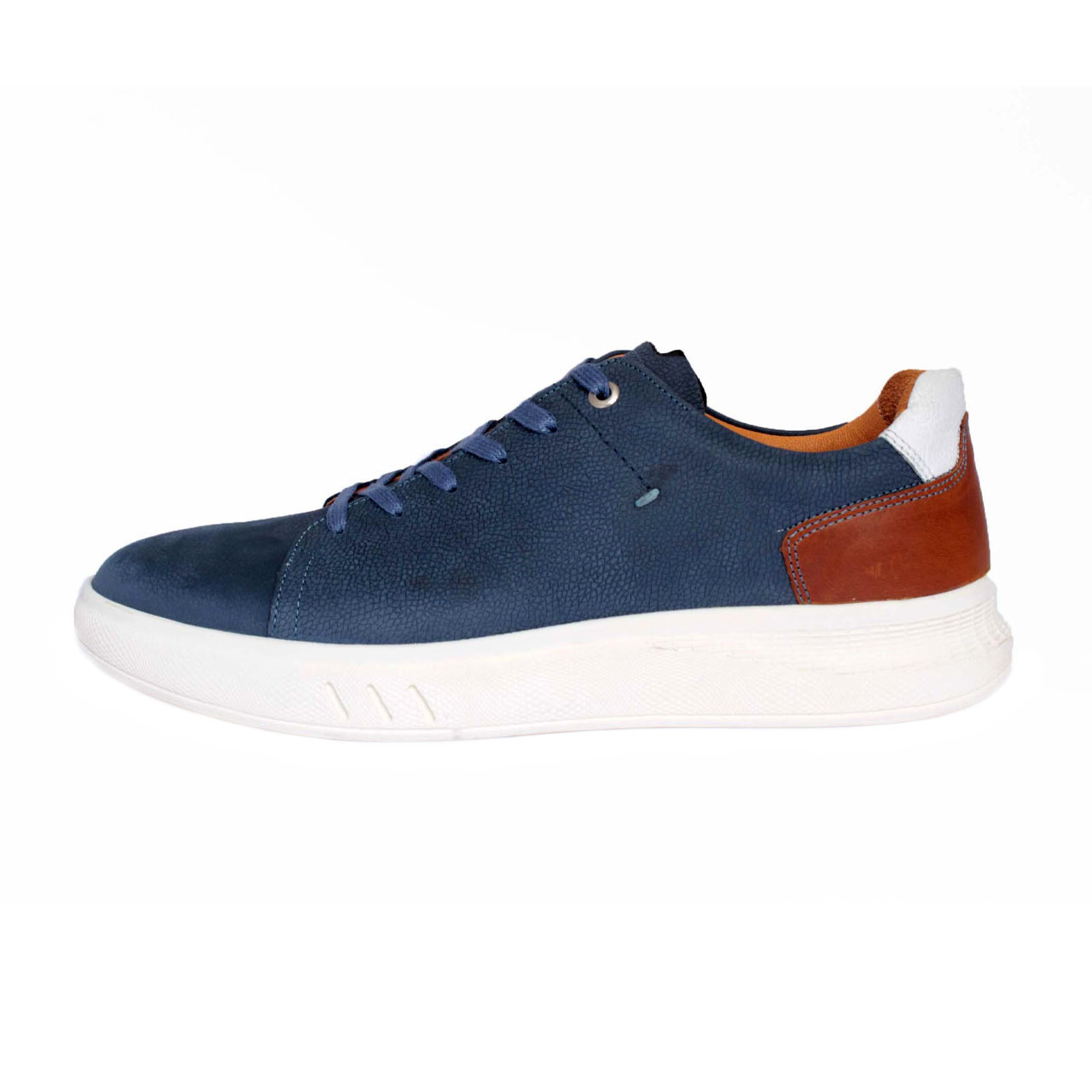 SAINACHARM leather men's shoes, M110 blue Model