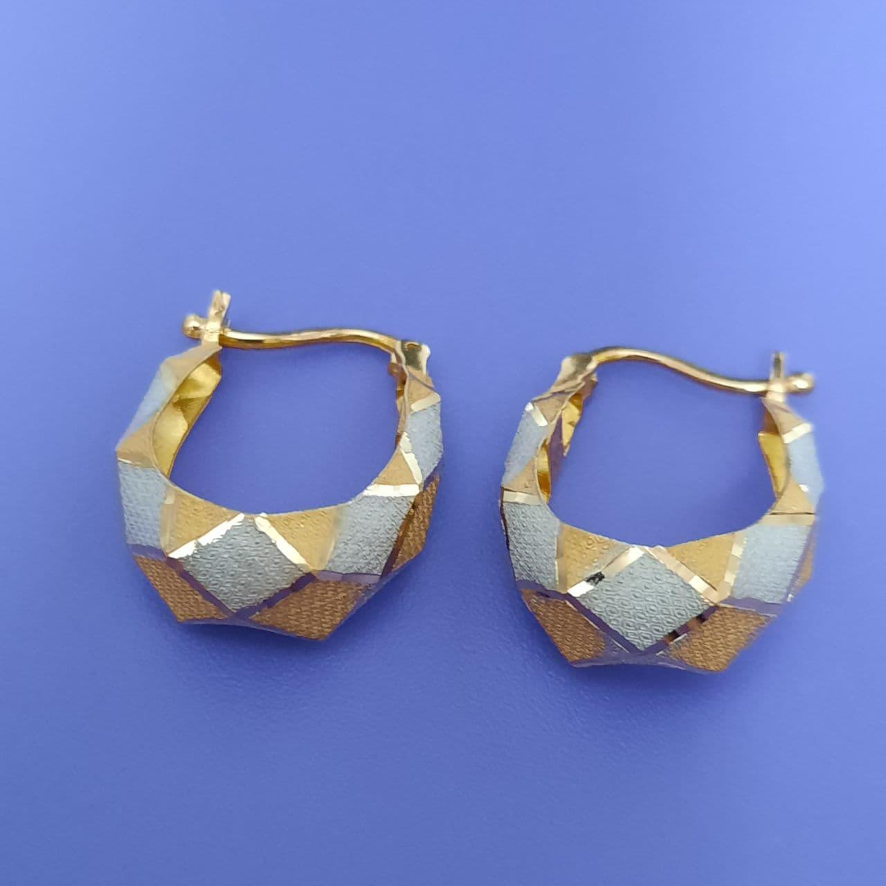 گوشواره طلا 18 عیار زنانه  گالری یارطلا کد AGF30