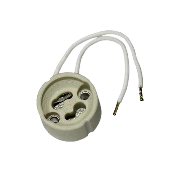 سوکت لامپ هالوژن پایه GU10 مدل crm بسته 5 عددی