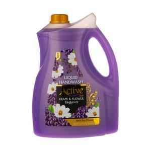 مایع دستشویی اکتیو مدل صدفی با رایحه گل و انگور وزن 3750 گرم