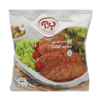 کتلت گوشت 40% ب.آ مقدار 450 گرم