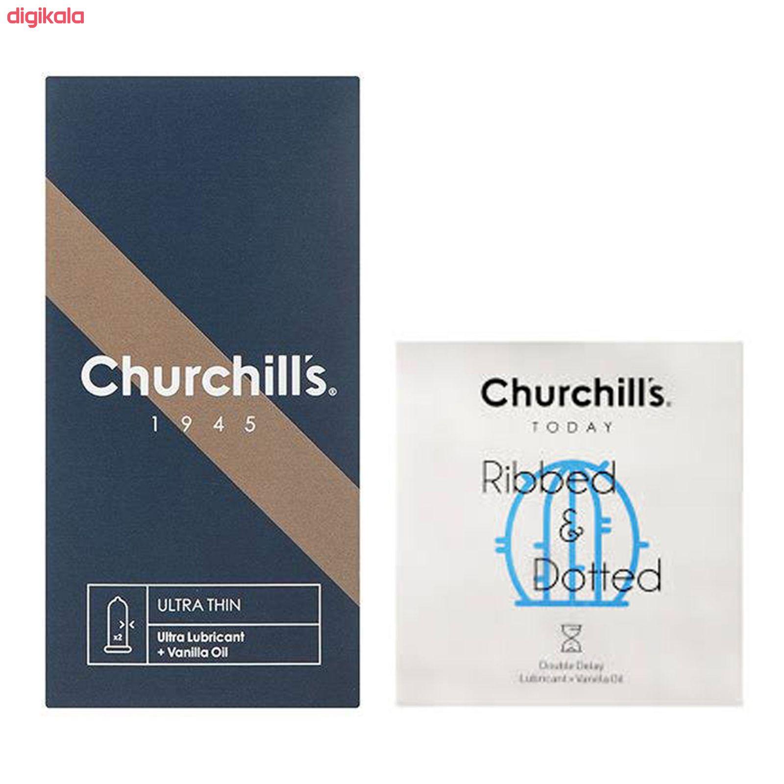 کاندوم چرچیلز مدل Ultra Thin بسته 12 عددی به همراه  کاندوم چرچیلز مدل شیاردار و خاردار بسته 3 عددی main 1 1