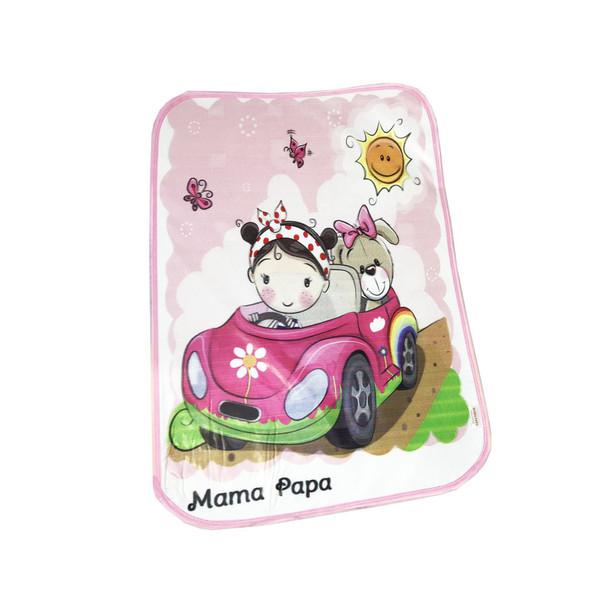 تشک تعویض نوزاد ماما پاپا مدل طرح دختر و ماشین کد 1
