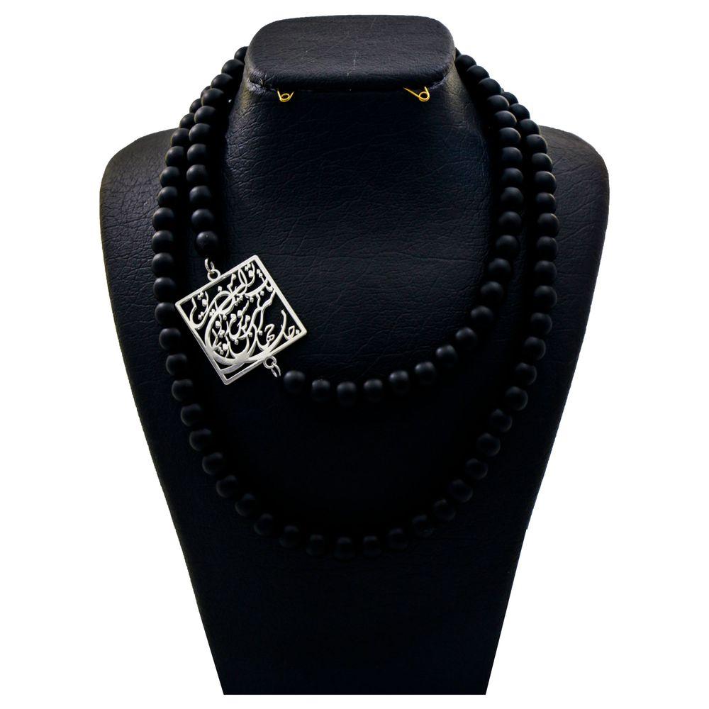 گردنبند نقره زنانه دلی جم طرح گر جان به جان من کنی جان و جهان کد D 56