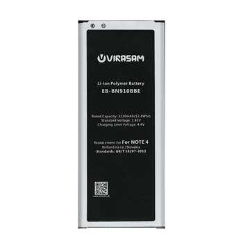 باتری موبایل ویراسام مدل Note 4 با ظرفیت 3220 میلی آمپر ساعت مناسب برای گوشی موبایل سامسونگ مدل Galaxy Note 4