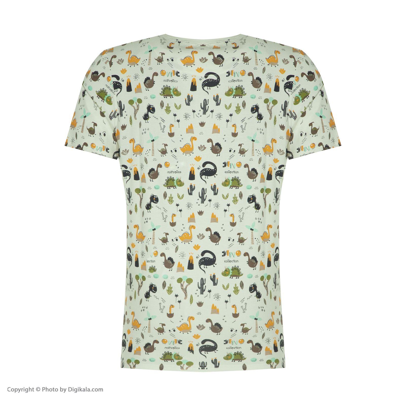 ست تی شرت و شلوارک راحتی مردانه مادر مدل 2041110-52 -  - 5