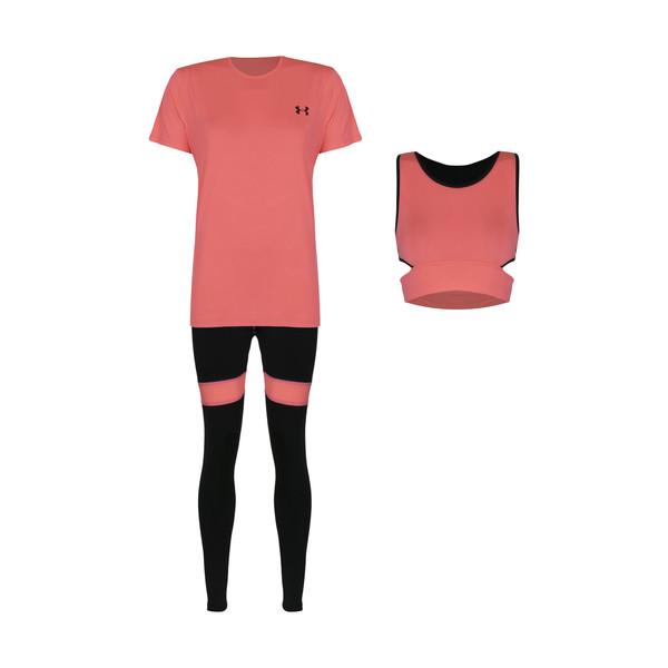 ست تی شرت و نیم تنه و شلوار ورزشی زنانه مدل Mhr-1003