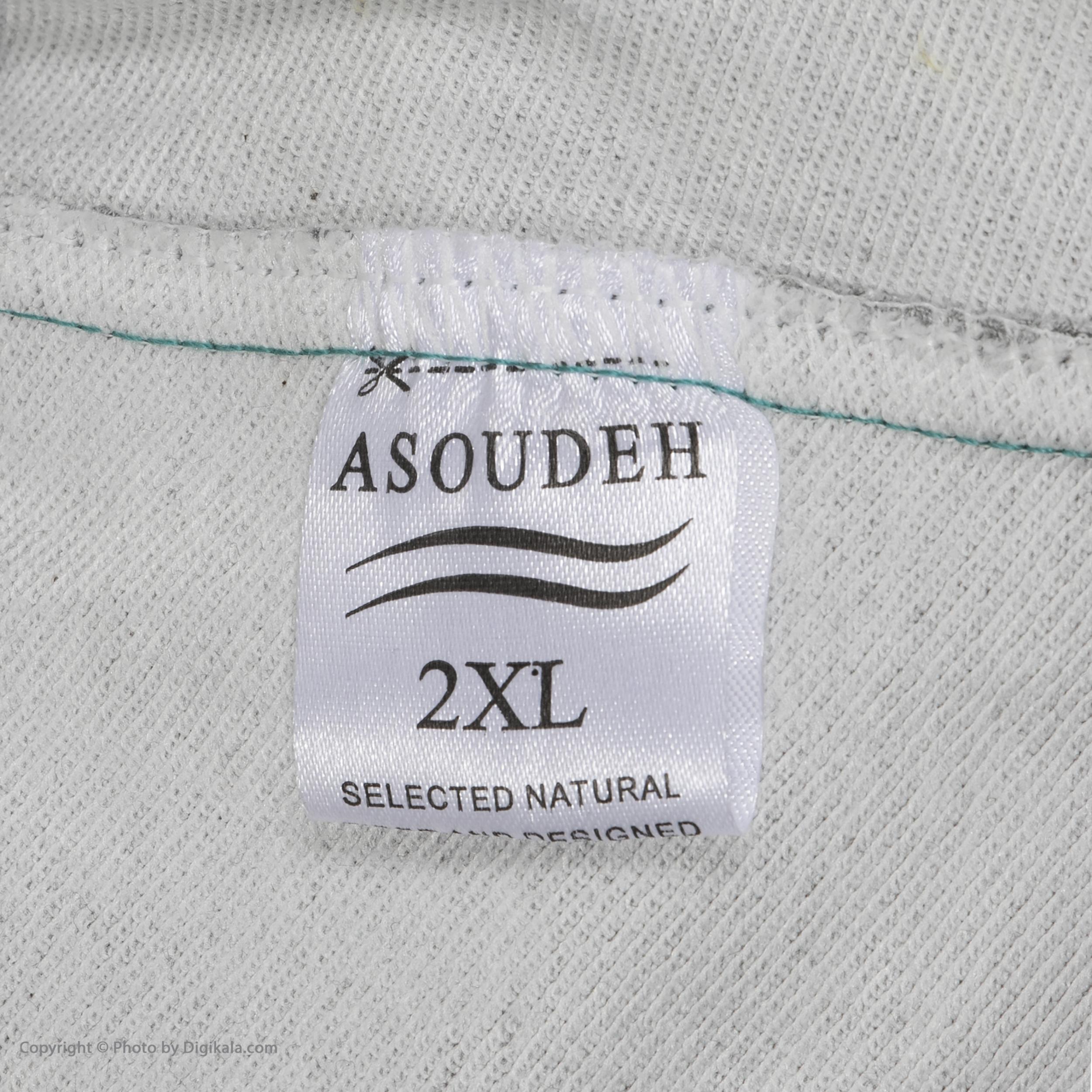 ست تی شرت و شلوار مردانه آسوده کد 0240 رنگ مشکی -  - 7