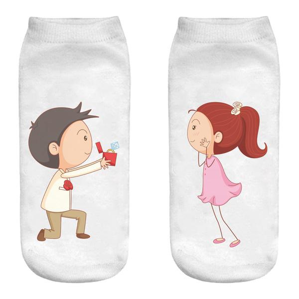 جوراب زنانه طرح عشق کد M144