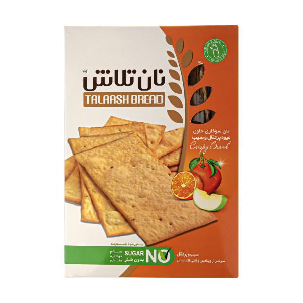 نان سوخاری نان دکتر تلاش با طعم پرتقال و سیب - 400 گرم