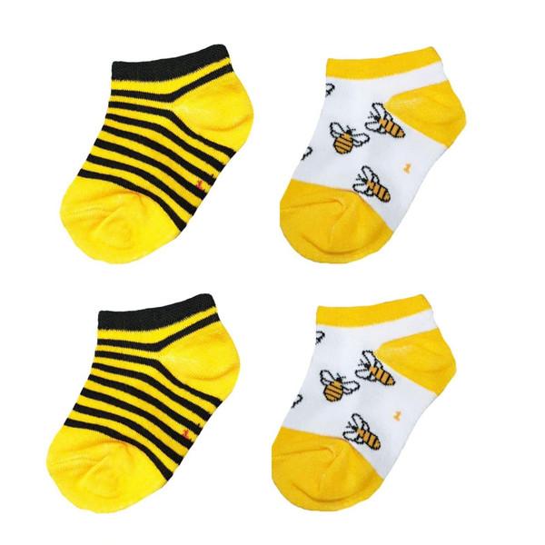 جوراب نوزادی مدل زنبور مجموعه دو عددی