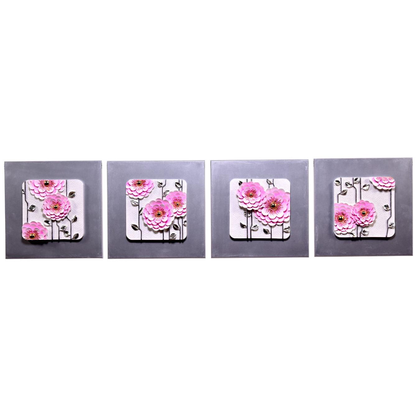 تابلو چهار تکه دکوراد مدل گل دندلیون