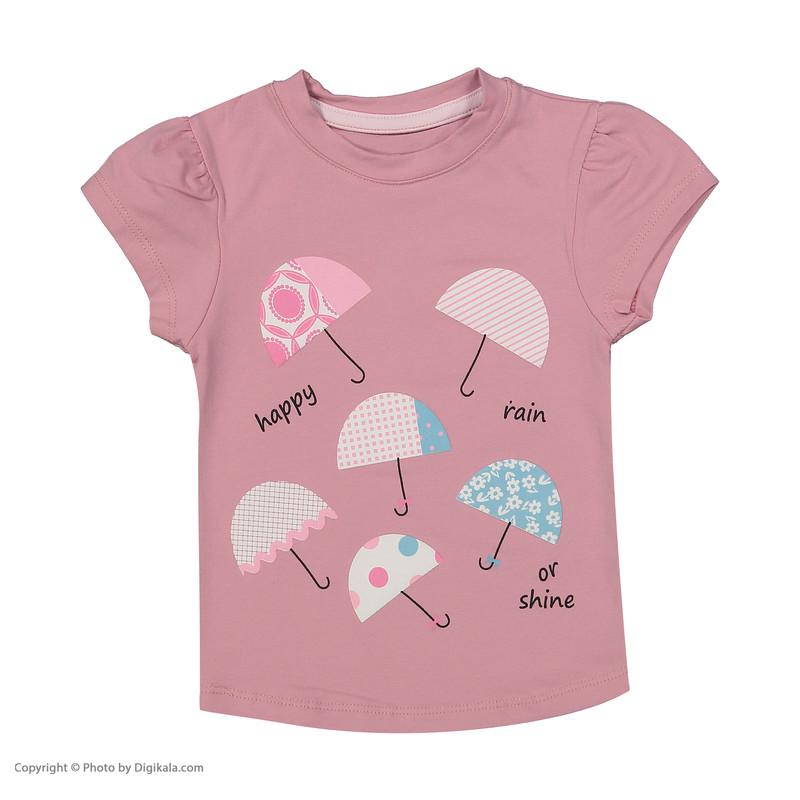 ست تی شرت و شلوار دخترانه نونا مدل 2211103-86