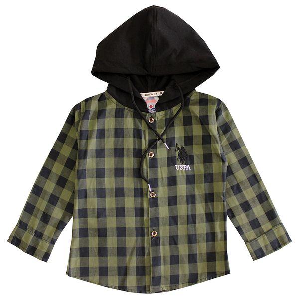 پیراهن پسرانه مدل 44 رنگ سبز غیر اصل
