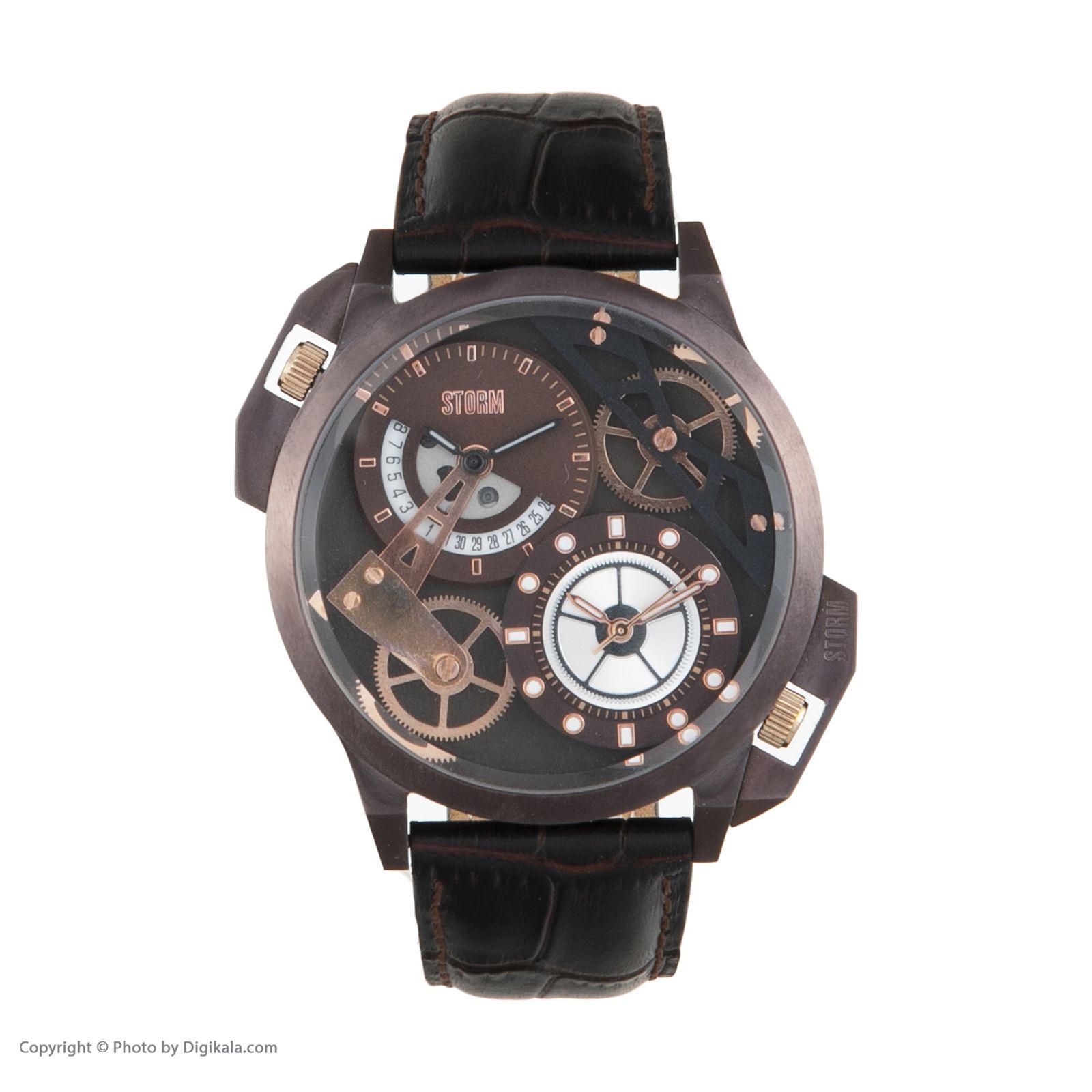 ساعت مچی عقربه ای مردانه استورم مدل ST 47147-BR -  - 3