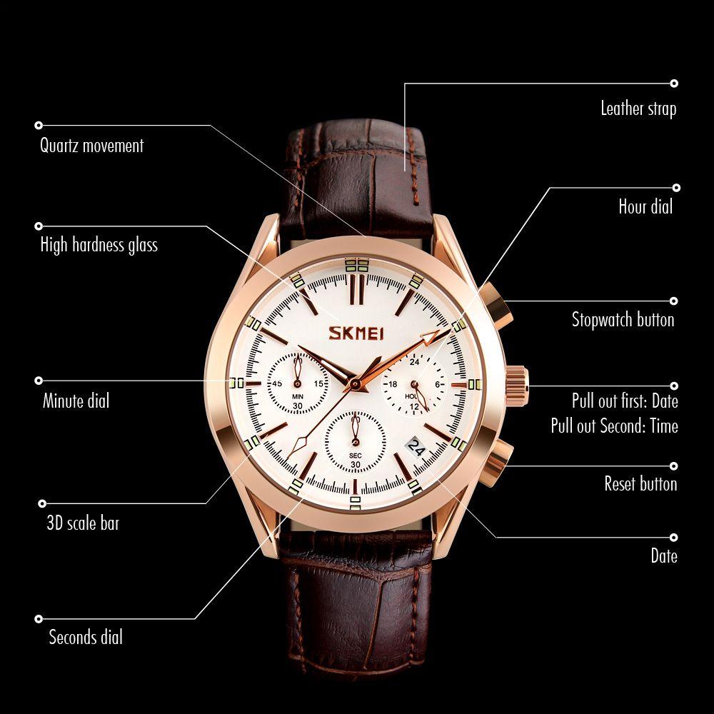 ساعت مچی عقربه ای مردانه اسکمی مدل 9127W-NP -  - 5